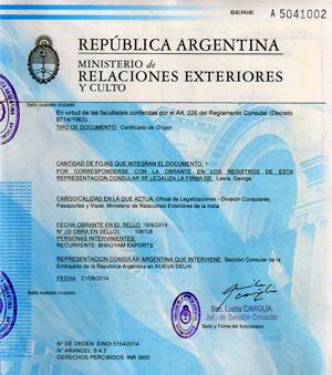 Apostila da Argentina